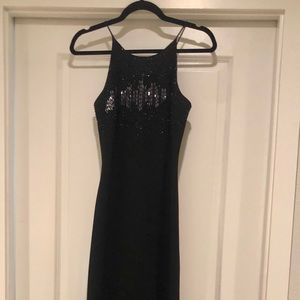 Beautiful black Cachet evening gown
